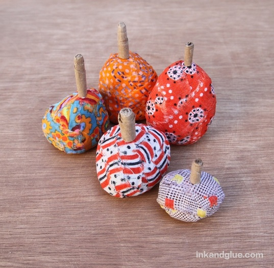 fabric rock halloween pumpkins