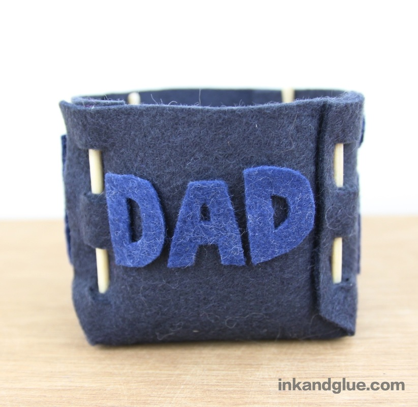 Father's Day DIY gift felt box