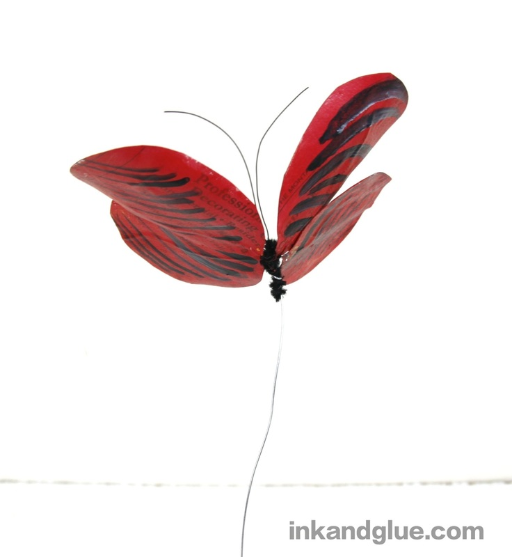 paper mache and wire butterfly craft for kids