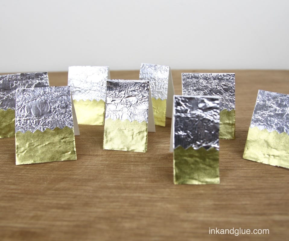 quick foil gift tags